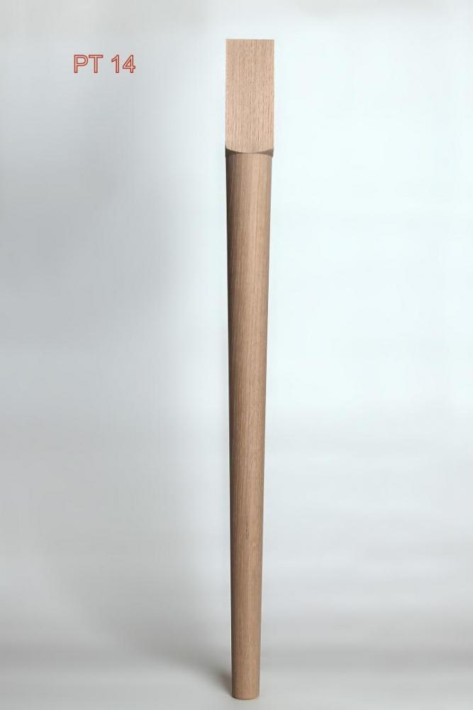 Pied de table ch ne pieds de table catalogue tournerie - Pied de table en bois massif ...