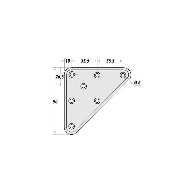 platine de fixation m8 platine de fixation pied de table. Black Bedroom Furniture Sets. Home Design Ideas